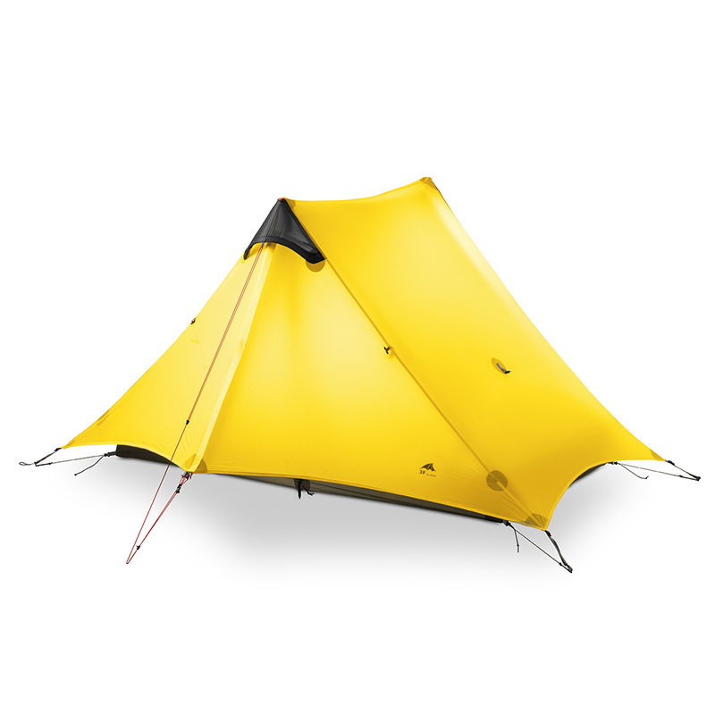 3F UL GEAR LanShan 2 человека Кемпинг Палатка Сверхлегкий 3/4 сезон палатка наружное оборудование для кемпинга 2019 Новый черный/красный/белый/желтый - 3