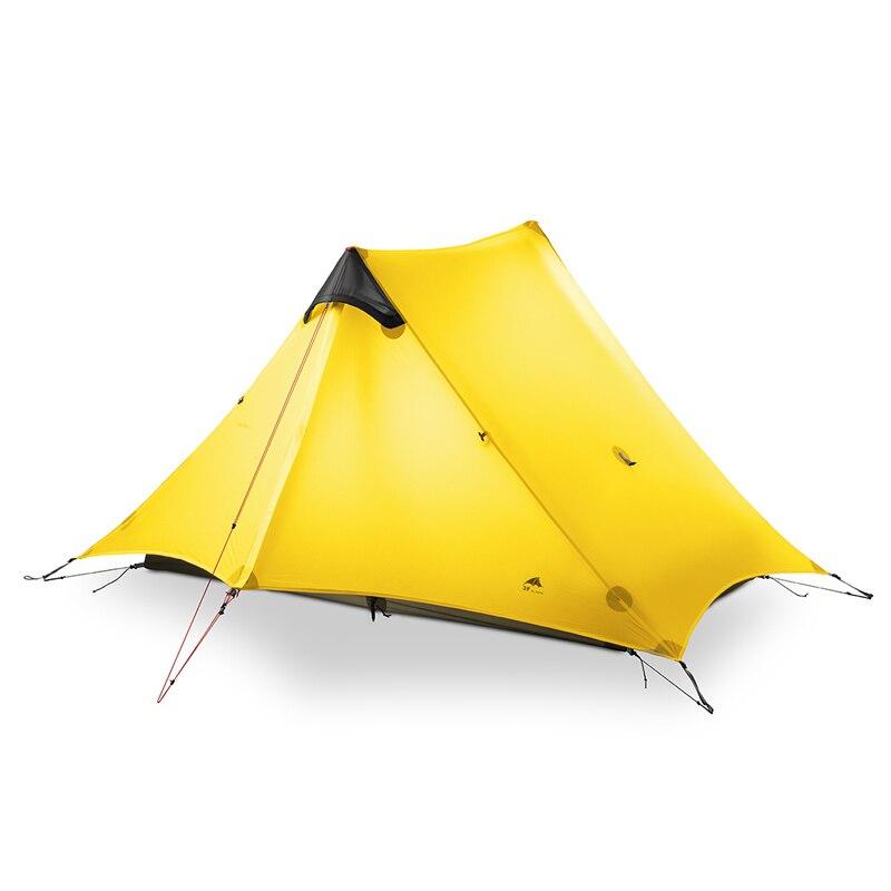3F UL biegów LanShan 2 osoby namiot Camping Ultralight 3/4 namiot na zewnątrz sprzęt obozowy 2019 nowy czarny/czerwony /biały/żółty