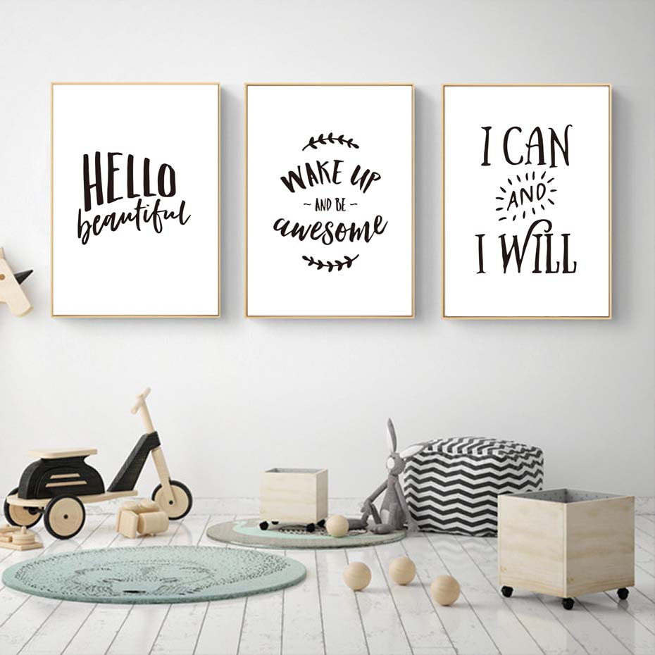 Wake Up And Be Awesome Motivational Inspirational Quote Poster Print Wall Art