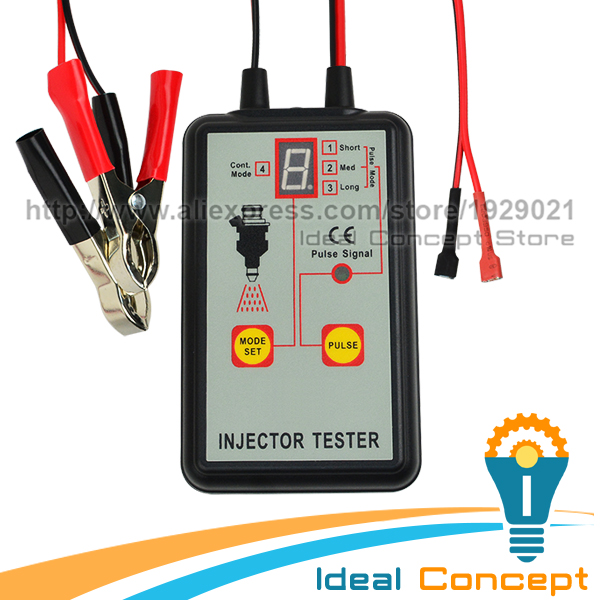 Auto Car Fuel Injector Tester 4 Pulse Modes 12V Automotive Vehicle font b Diagnostic b font