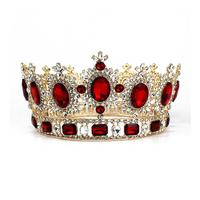 Wedding Rhinestone Decorated Bride Crown / Hair Barrettes / Hairband / Hair Clip / Hair Loop (Red)