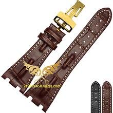 Бесплатная доставка высокое качество 28 мм черный коричневый натуральная кожа ручной ремешок