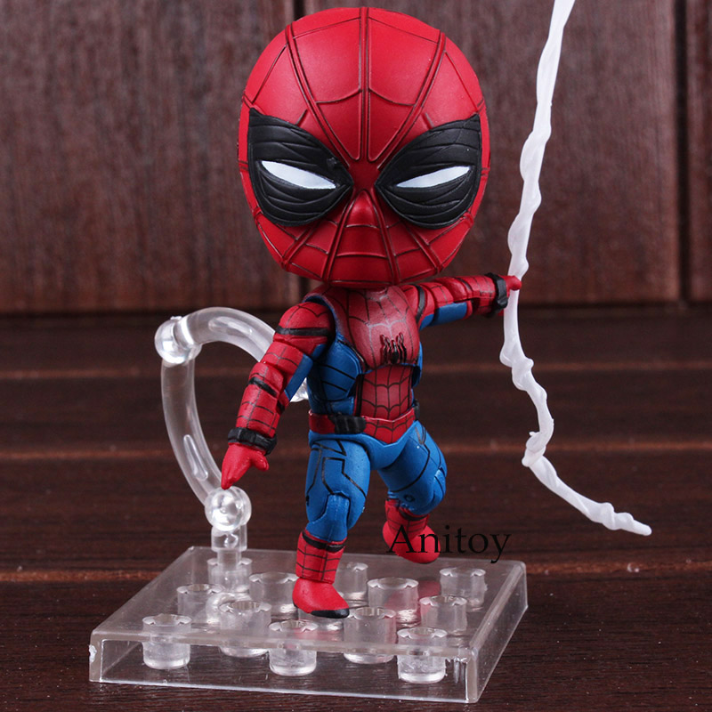 Marvel Spider Man Homecoming Spiderman Toys Nendoroid 781 Spider-man Figure PVC Action Figure Collectible Model Toy Dolls