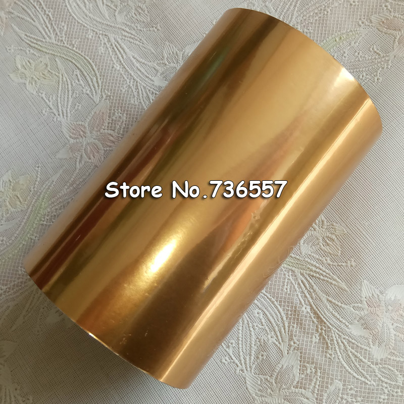 1 Roll 10cm Width 120m Length Matt Gold Hot Foil Stamping Foil Paper Heat Transfer Anodized Gilded Paper
