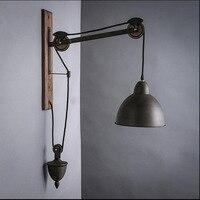 Американский Лофт настенный светильник ASCELINA длинные подвесные Настенные светильники регулируемые металлические светодиодные Настенные с