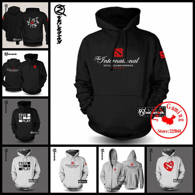 New Dota 2 Logo Cosplay Sweatshirts Cotton Hoodies Costume Coat Jacket Hooded Sweatshirts For Dota2 Sweatshirts fleece sportwear