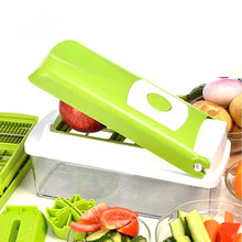 Nuevo 12 UNIDS conjunto Multifuncional máquina de Cortar Vegetal Cortador máquina de Cortar Mandolina Con Intercambiables de Acero Inoxidable Rallador Pelador