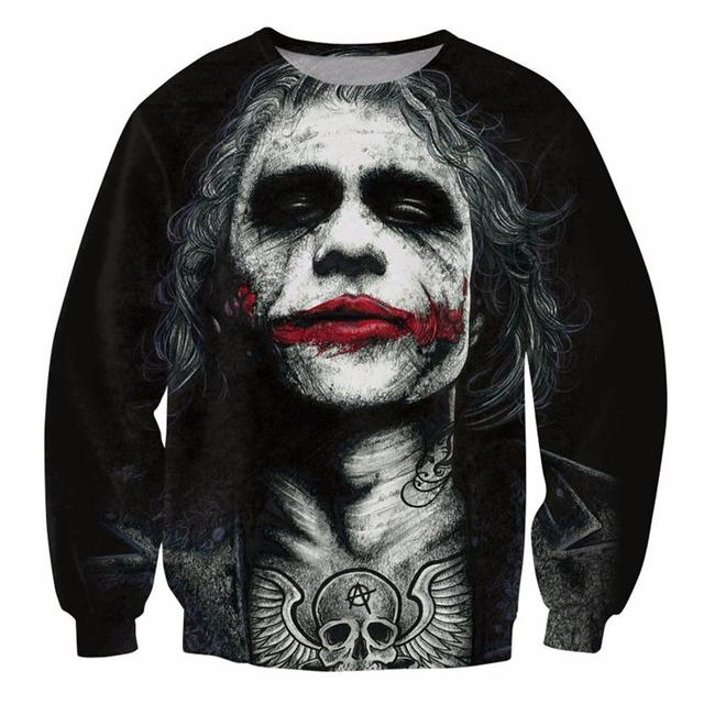 Alisister Inked Joker Sweatshirt 3d badass tattooed Joker Dark Knight hoodies men women Batman DC Comics Outfits Tops Dropship