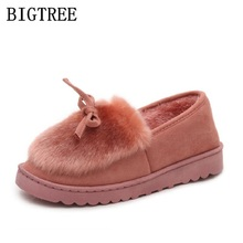 Фотография 2017 new winter shoes women fashion warm ankle flats boots Women