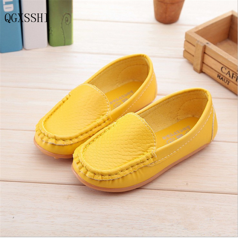 QGXSSHI 2016 New PU childrens shoes baby boys girls casual sports shoes fashion kids sneakers non-slip toddler shoes
