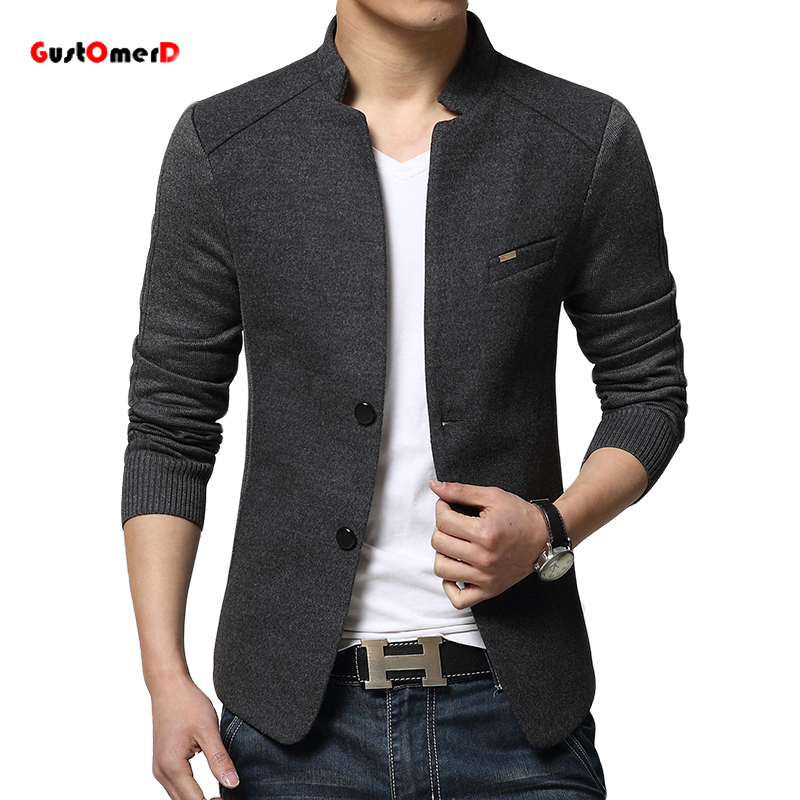 2016 New Mens Blazer Patchwork Suits For Men Top Quality ...