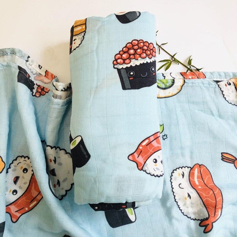 70% бамбуковое детское муслиновое одеяло для пеленания, качество лучше, чем Aden Anais, детское Многофункциональное большое одеяло для пеленок, детское одеяло - Цвет: ZM suchi blue