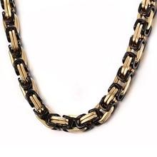 Vnox 55cm Men's Long Necklace for Men Stainless Steel Metal BIker Chain Heavy Party Jewelry