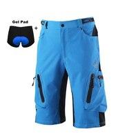 מכנסיים קצרים גברים חיצוני ספורט אופני הרי MTB Downhill רכיבה על אופניים ביגוד אופניים רכיבה על אופניים מכנסיים ג 'רזי עם תחתוני ג' ל
