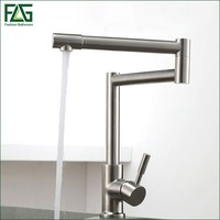 FLG 304 Stainless Steel Lead Free Kitchen Faucet Mixer 360 Degree Swivel Drinking Water Filter Tap
