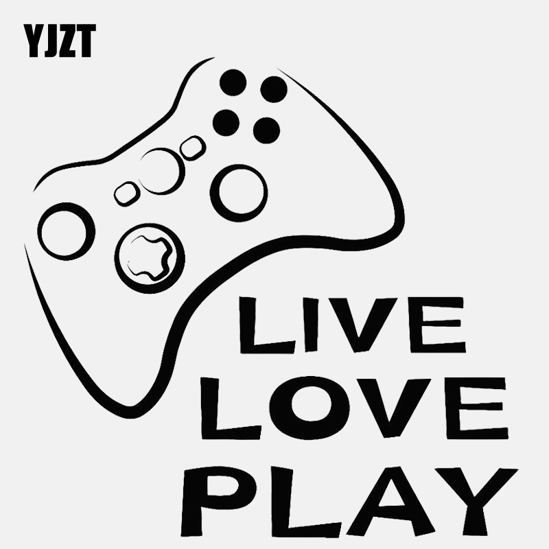 US $1.05 40% OFF|YJZT 13.7CM*13.3CM Video Game Quote Joystick Play Decal  Vinyl Black/Silver Car Sticker C22 0376-in Car Stickers from Automobiles &  ...