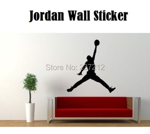 new air jordan basketball wall sticker jumpman decal jordan wall decal etsy