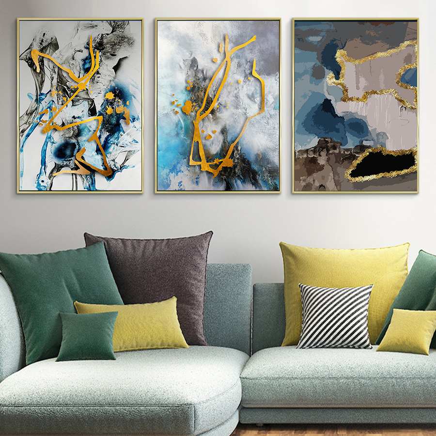 Nordic Marble Wall Art Poster Abstract