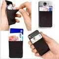 Para iphone tudo celular flexível bolsa saco titular do cartão de crédito 3 m adesivos de telefonia móvel adesivos 3 m do telefone móvel cartão de telefone conjuntos