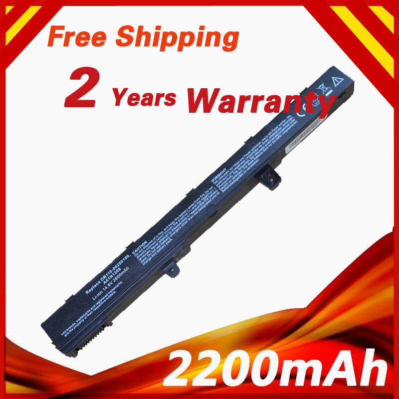 4 cells 14.8V Laptop Battery For ASUS 0B110-00250100 A41N1308 A31N1319 X451 X551 X451C X451CA X551C X551CA 2200mAh