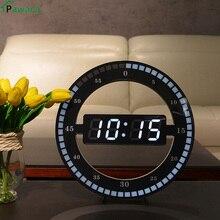 Home & Office Decor Creative Annular Design Lightness Smart Adjusting Hanging Number Led Display Desktop Digital Table Clocks
