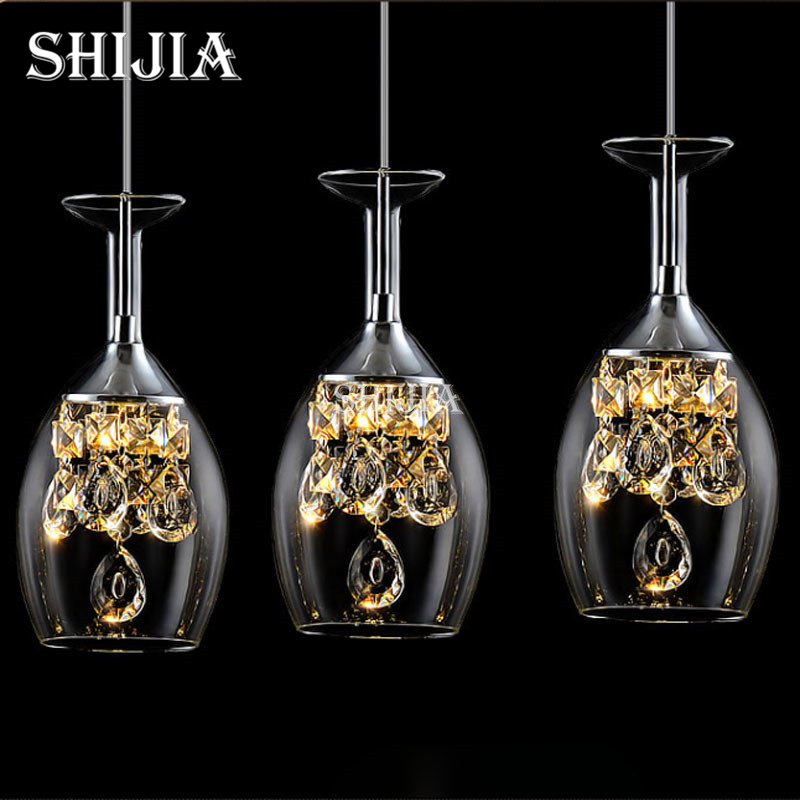 Wine glass Modern Pendant Chandelier LED Crystal Chandeliers Three Head Disc Tray and Rectangular Plate Optional Free Shipping vibration of orthotropic rectangular plate