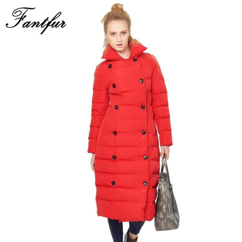 цены на 2017 Down Coat Parkas Women's winter duck down jacket women long coat parkas thickening Female Warm Clothes fur collar в интернет-магазинах