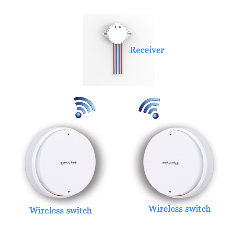 Two Control One Wireless Safe Remote Control Self-generating battery free  Elect