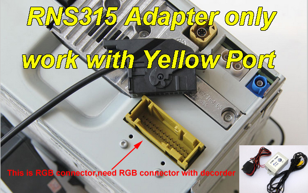 US $45 0 |V9 3 CVBS RGB Adapter and AV to RGB Converter Adapter For VW  Volkswagen RCD510 RNS510 RNS 510 RNS 315 RCD 510 Flip Logo Camera-in  Cables,
