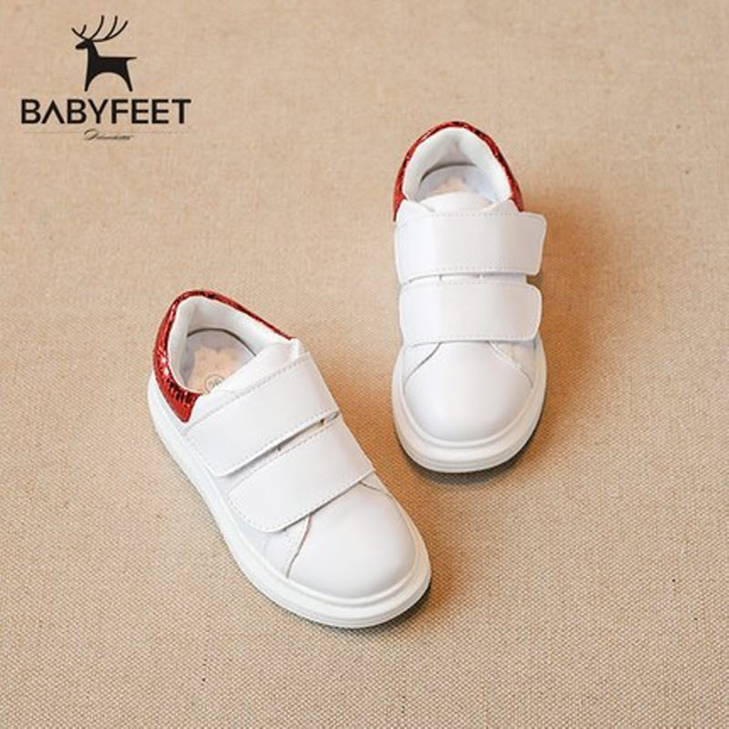 2017 Autumn Brand Babyfeet High Quality Children White Shoes PU Leather Running kids Sports shoes Little baby Girls Boy Sneakers kids shoes girls boys pu leather lace up high children sneakers girl baby shoes sport autumn winter children shoes
