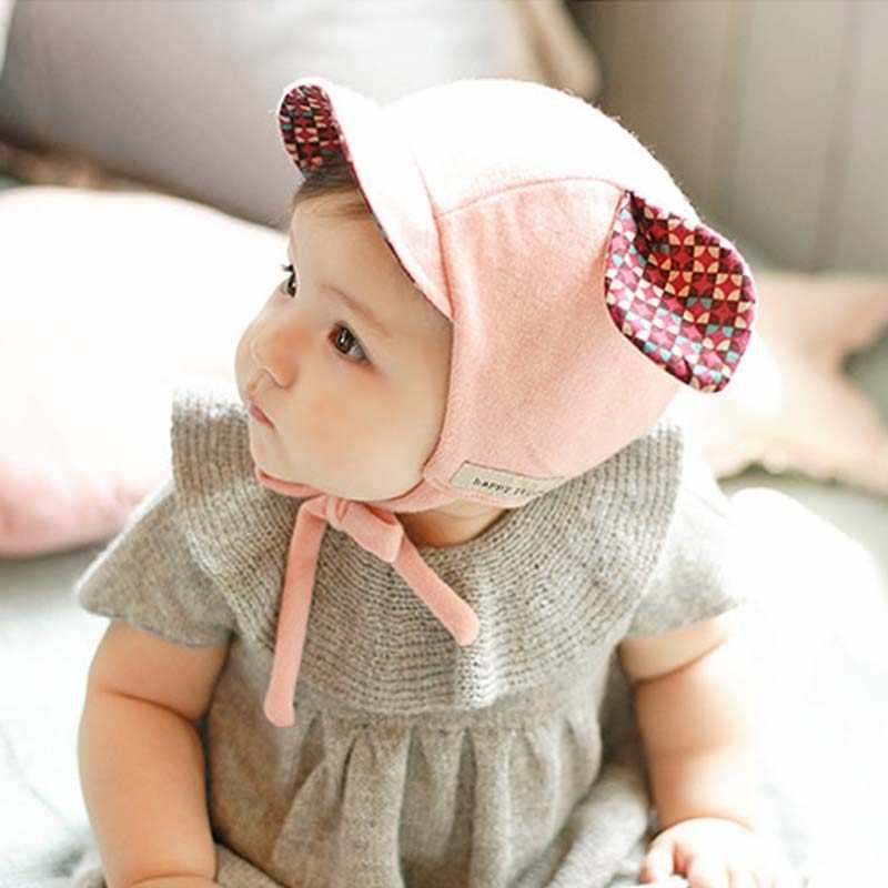 Зимние шапки-бомберы От 0 до 2 лет 1 шт. милый кролик длинное ухо шляпа Детская шляпа дети девочки мальчики детская шапка, аксессуары для фотографий желтый/розовый