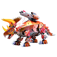 2018 Popular Children Christmas Gifts Dinosaur Series Triceratops 3D Assembly Puzzle Educational Toy DIY Model Gift for Children