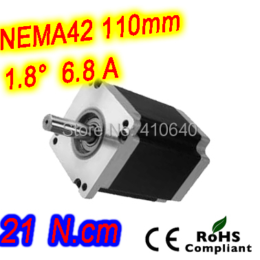3 pieces per lot ! Free Shipping! Nema 42 Stepper motor 42HS59-6804S L 150 mm with 1.8 deg 6.8 A torque 21 N.m and 4 wires 5 pieces per lot stepper motor 34hs31 5504s l 80 mm nema 34 with 1 8 deg current 5 5 a torque 4 5 n cm and 4 wires