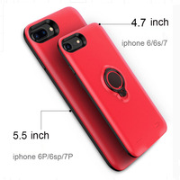 2018 5000/7200mah power case battery wireless charger phone Finger ring Smart Support cover for iphone x 8 plus power bank