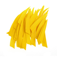 50Pcs 4 Inch Turkey Feathers Arrow Feather Fletching For Any Broadheads Crossbows 3D Archery With