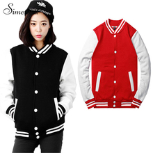 Baseball jacket casacos femininos college jackets Harajuku style women jacket 2015 new autumn winter coat Jackets free shipping
