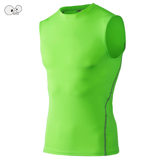 New Quick Dry Mens Compression Tank Tops Tight Workout Base Layer Fitness Excercise Vest Sleeveless Running Bodybuilding Shirts