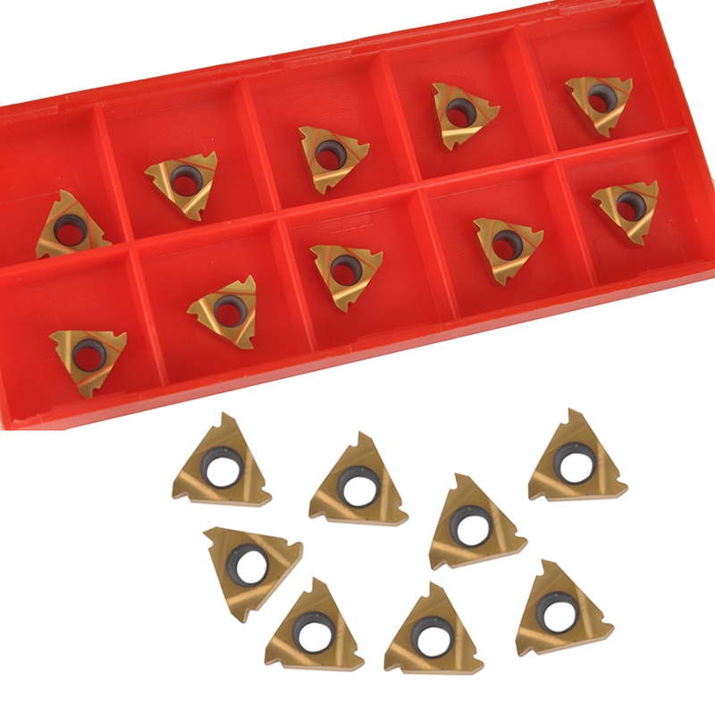 10pcs 11IR A60 Carbide Insert Golden Inserts Set Mayitr For Internal Threading Turning Cutting Tools