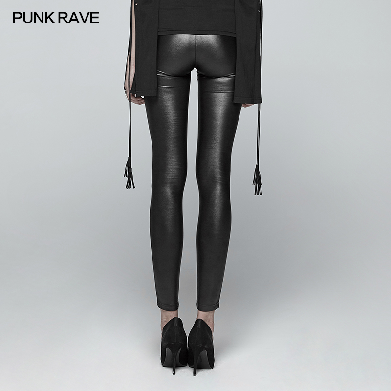 2017 Kunstleer Sexy Vrouwen Leggings Potlood Skinny Slim PU Lederen Winter Dunne Stretchy Jeggings Push Up Calzas Mujer LG21 - 3