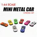8 unids/set mini diecast cars 1: 64 modelo de juguete de metal colorido cars toys die cast escala modelos de diapositivas juguete cars modelo pequeño cars toys!!
