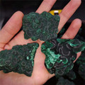 Natural malachite ore decoration raw ore original mineral gemstones crystal