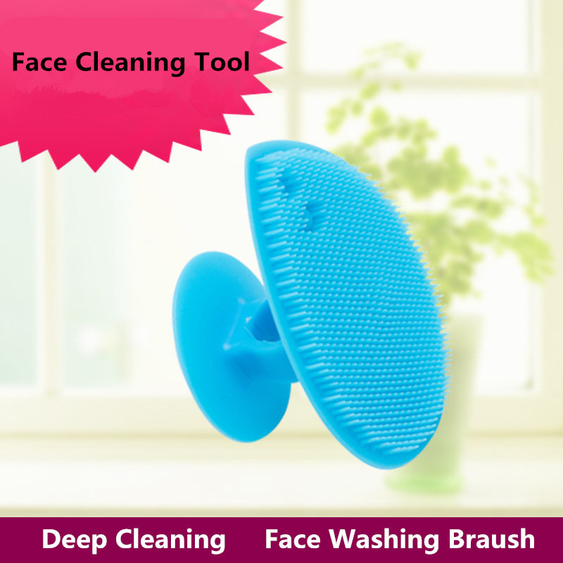 2Pcs Fashion Multifunction Face Washing Brush Women Men Deep Cleaning <font><b>Professional</b></font> Facial <font><b>Skin</b></font> Beauty <font><b>Care</b></font> <font><b>Tool</b></font> Hot Sale CN515M image