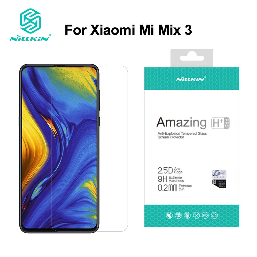 For xiaomi mi mix 3 glass screen protector 6.39 NILLKIN H+PRO 9H 2.5d Tempered Glass screen protector for xiaomi mix 3 mix3For xiaomi mi mix 3 glass screen protector 6.39 NILLKIN H+PRO 9H 2.5d Tempered Glass screen protector for xiaomi mix 3 mix3
