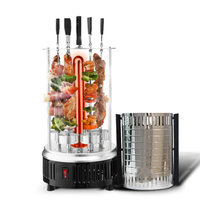 Electric oven smokeless barbecue BBQ kebab rotary machine grill automatic rotation rotisserie Roast domestic lamb skewers