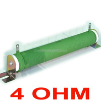 4 Ohm 500 Watts Non Inductive Wirewound Coated Ceramic Tube Resistor Audio Amplifier Dummy Load 500W