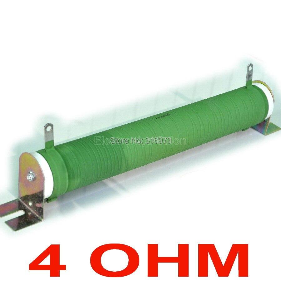 Résistance de Tube en céramique enduite Non inductive de 4 ohms 500 Watts, charge factice d'amplificateur Audio, 500 W.