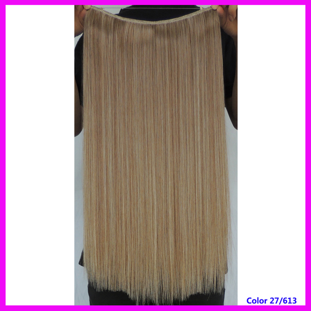 22 Inch Straight Flip In Hair Extensions Hairpiece Synthetic Fibra