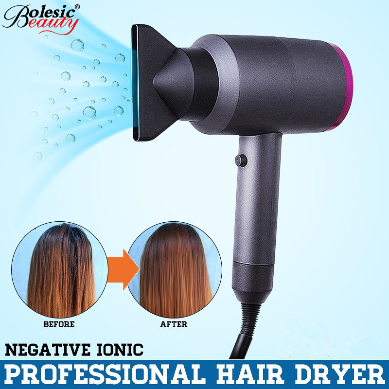 Новый фен для волос отрицательные ионы быстросохнущие Электрические инструмент для ухода за волосами сушилка 1100 Вт мощность аксессуары дл...
