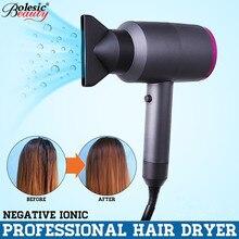 Новый фен для волос отрицательные ионы быстросохнущие Электрические инструмент для ухода за волосами сушилка 1100 Вт мощность аксессуары для волос 220 В