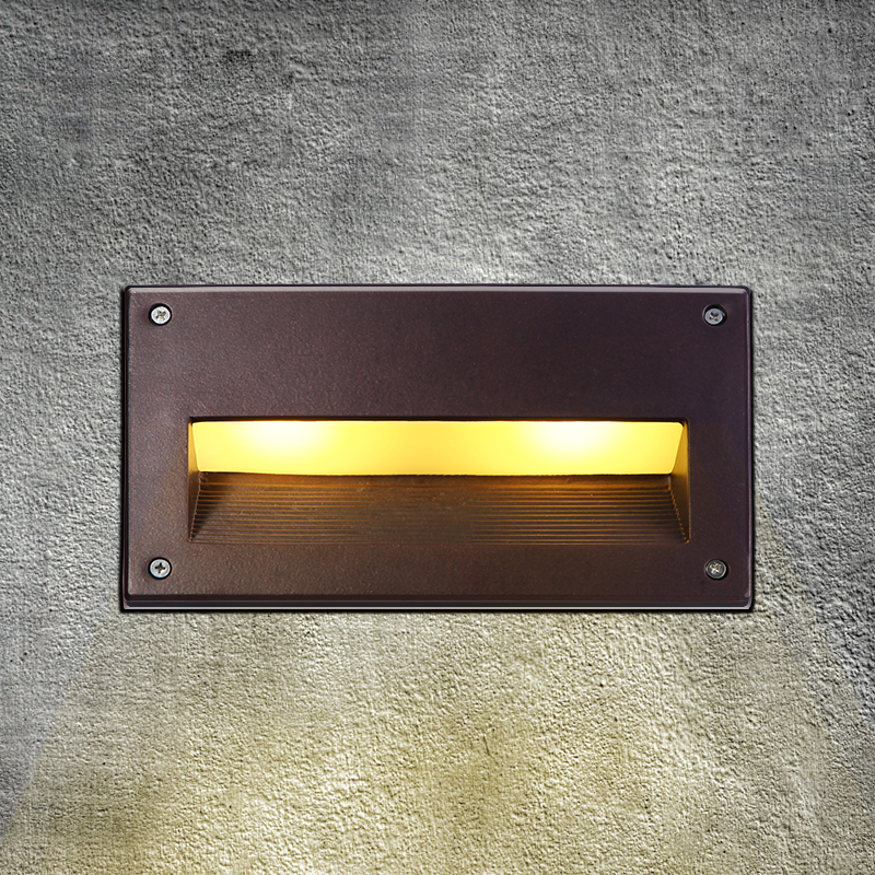 Buy LED Recessed Wall Light Outdoor Waterproof IP54 Modern W